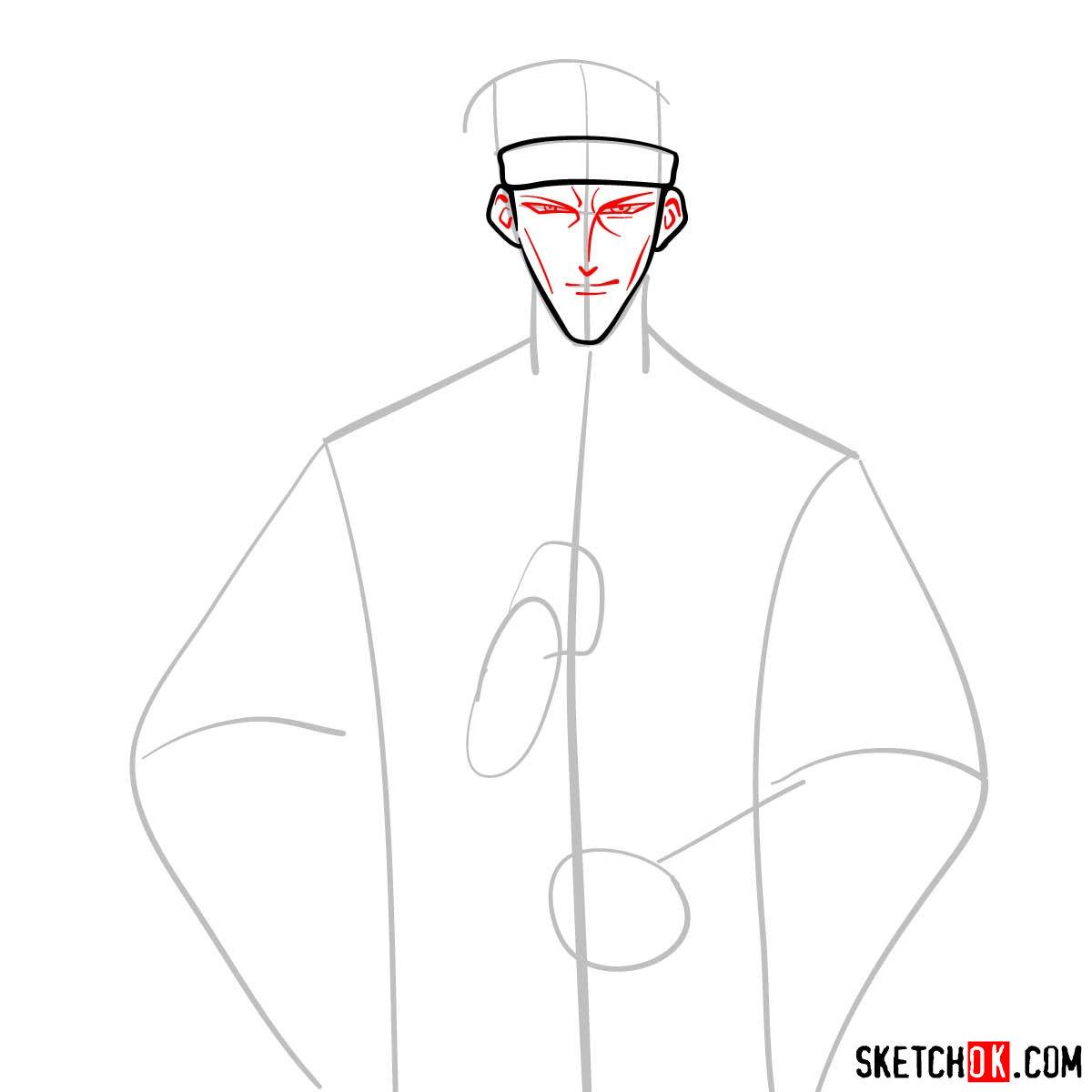 How to draw Saito Hajime | Rurouni Kenshin - step 04