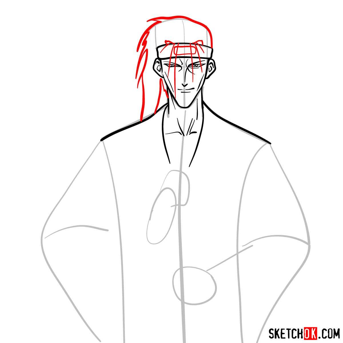 How to draw Saito Hajime | Rurouni Kenshin - step 06