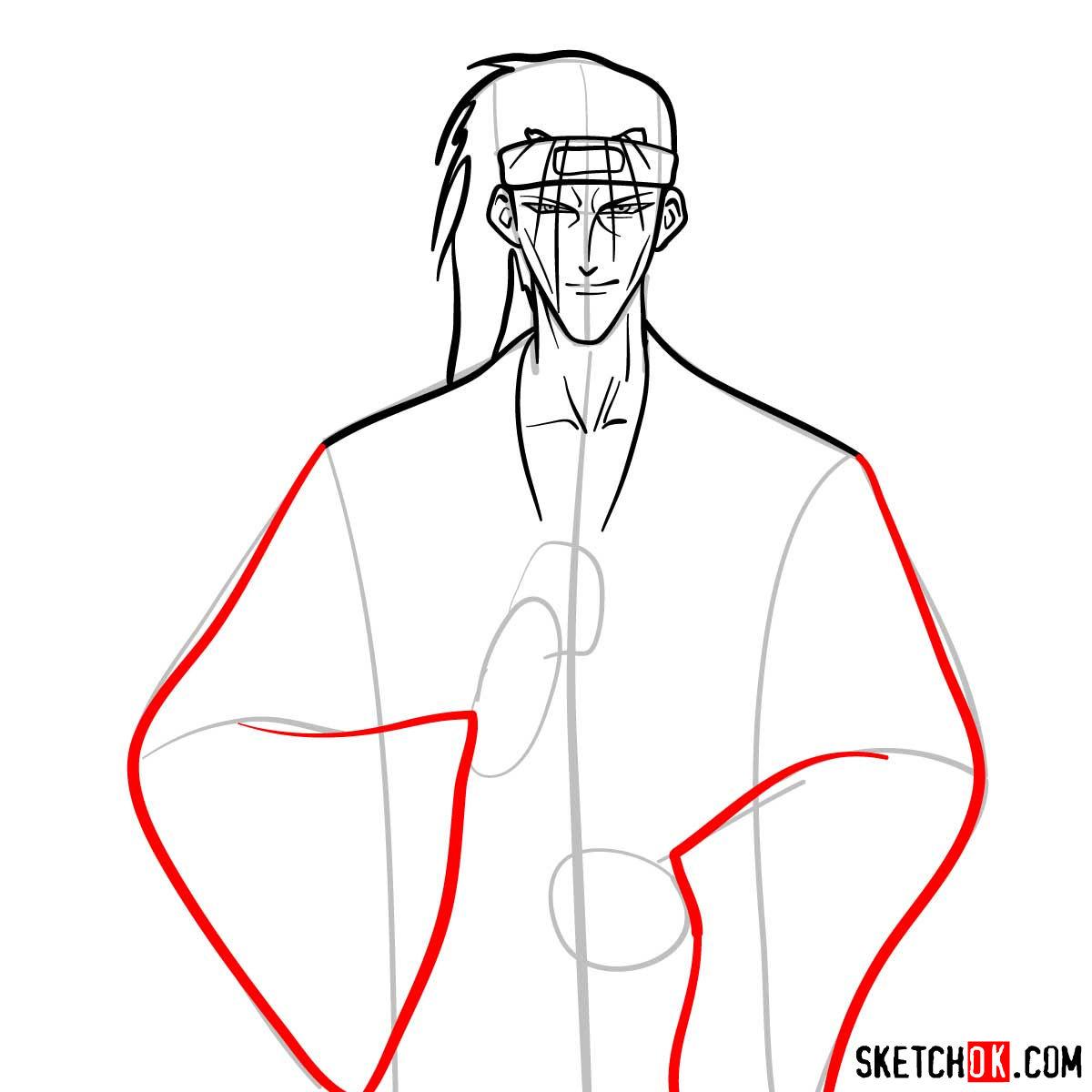 How to draw Saito Hajime   Rurouni Kenshin - step 07