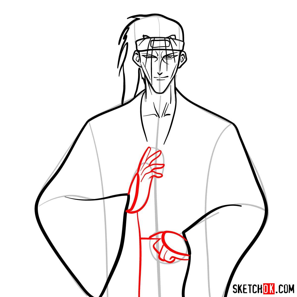 How to draw Saito Hajime | Rurouni Kenshin - step 08