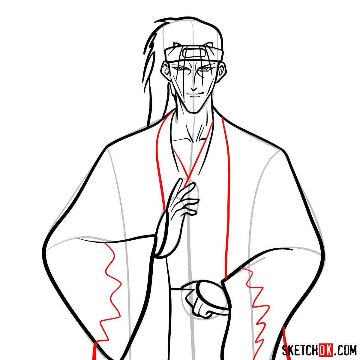 How to draw Saito Hajime | Rurouni Kenshin - step 09