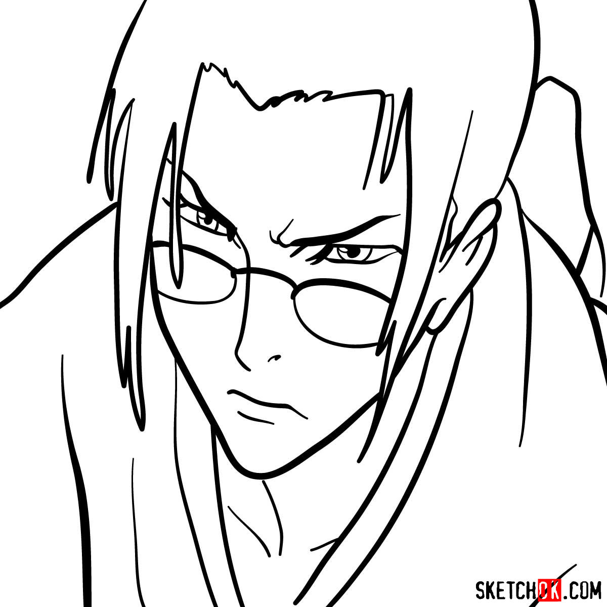 How to draw Jin's face | Samurai Champloo