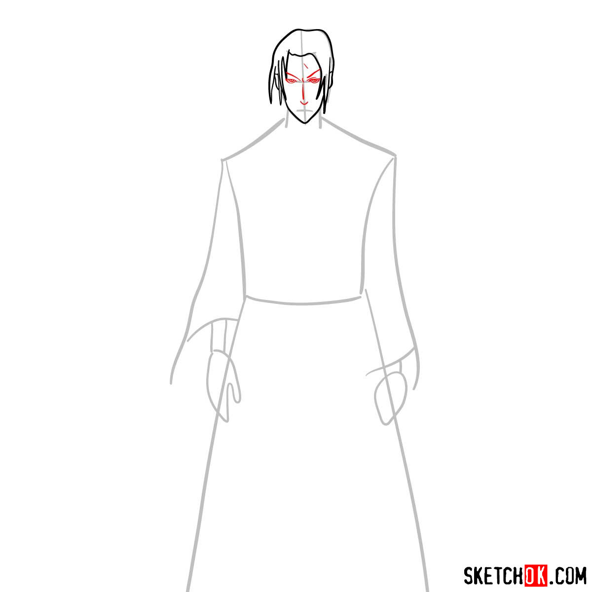 Making the drawing of Jin in full growth   Samurai Champloo - step 05