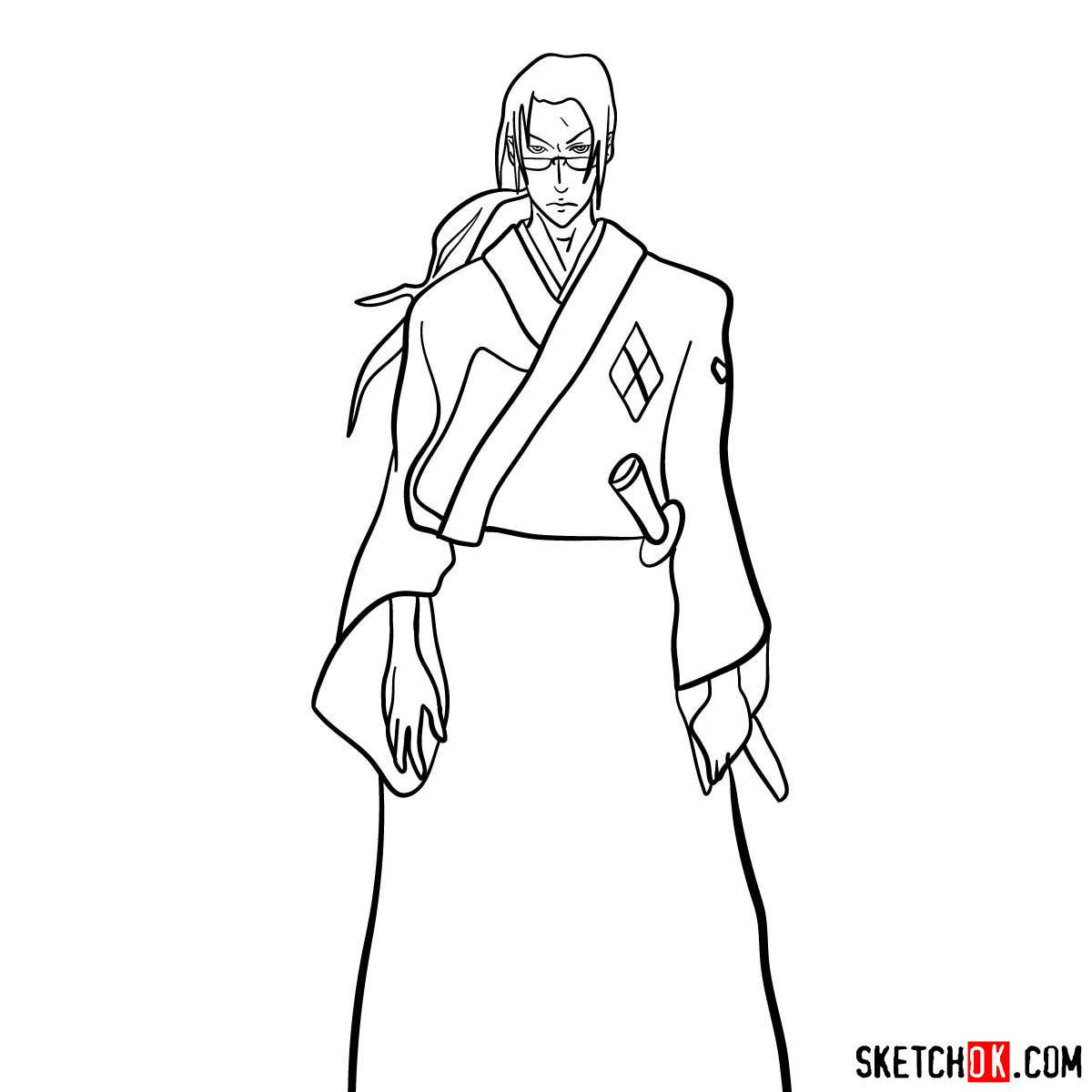Making the drawing of Jin in full growth | Samurai Champloo
