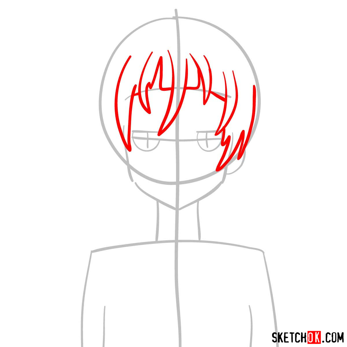 How to draw Crona | Soul Eater anime - step 03