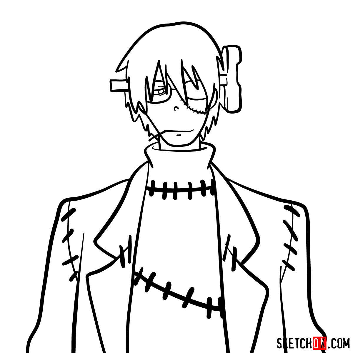 How to draw Franken Stein | Soul Eater