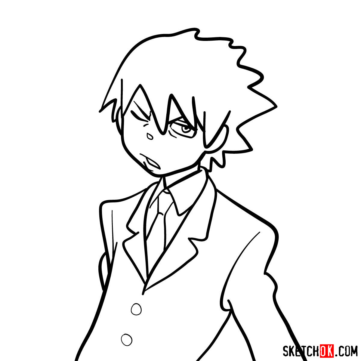 How to draw Soul Evans | Soul Eater