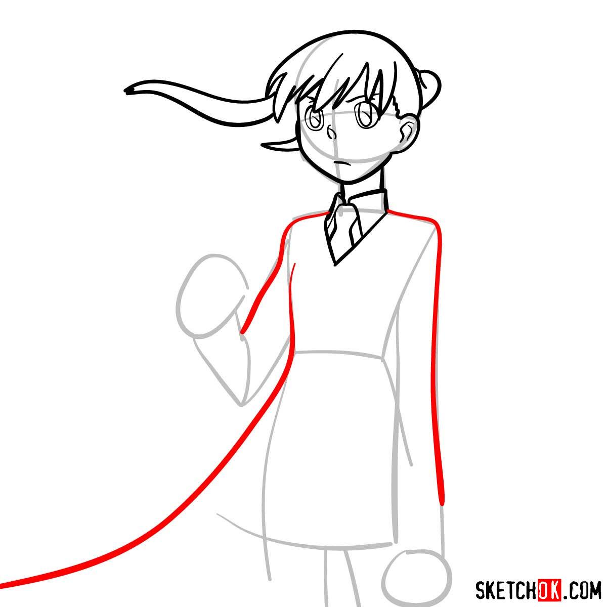How to draw Maka Albarn | Soul Eater anime - step 07