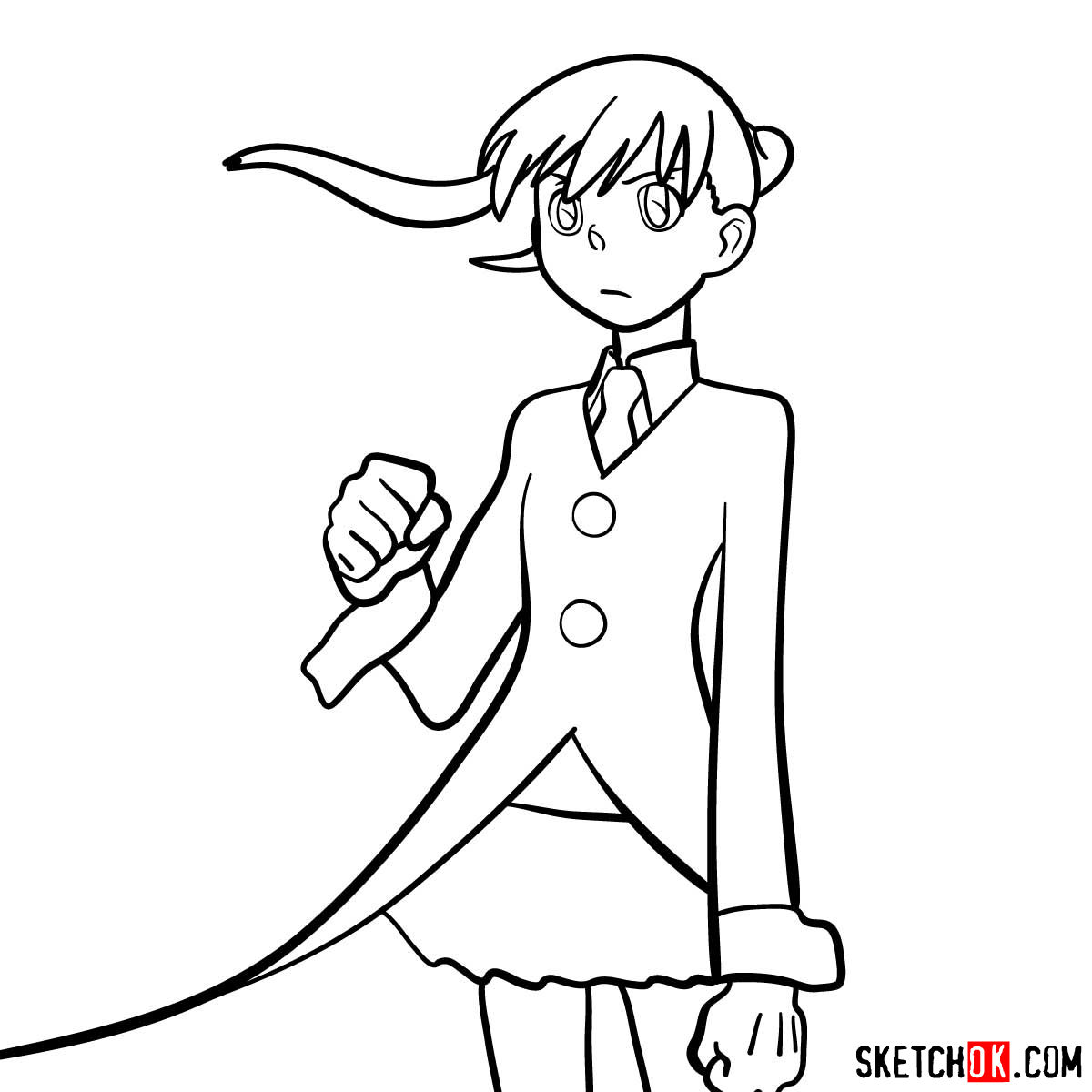 How to draw Maka Albarn | Soul Eater anime