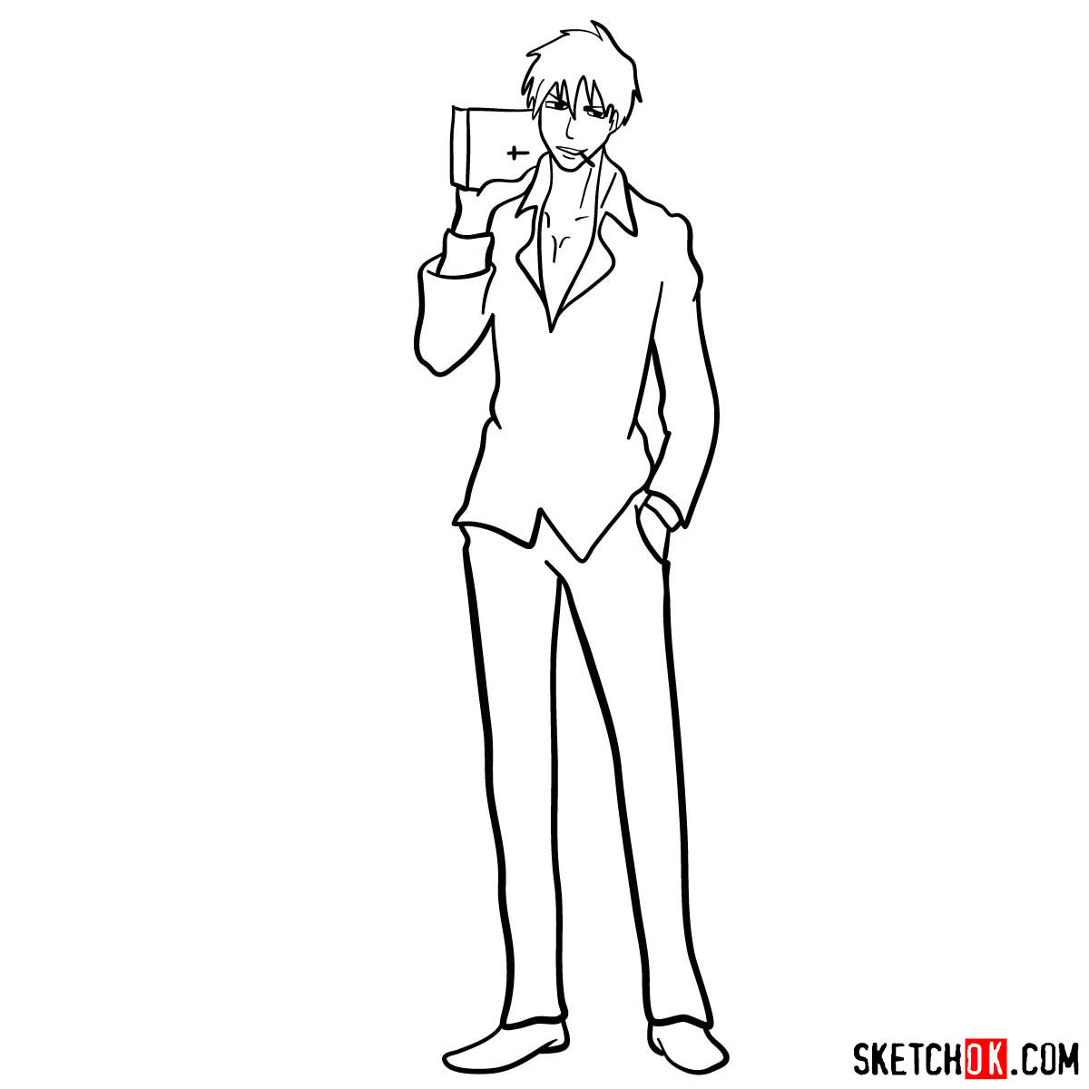 How to draw Nicholas D. Wolfwood from Trigun