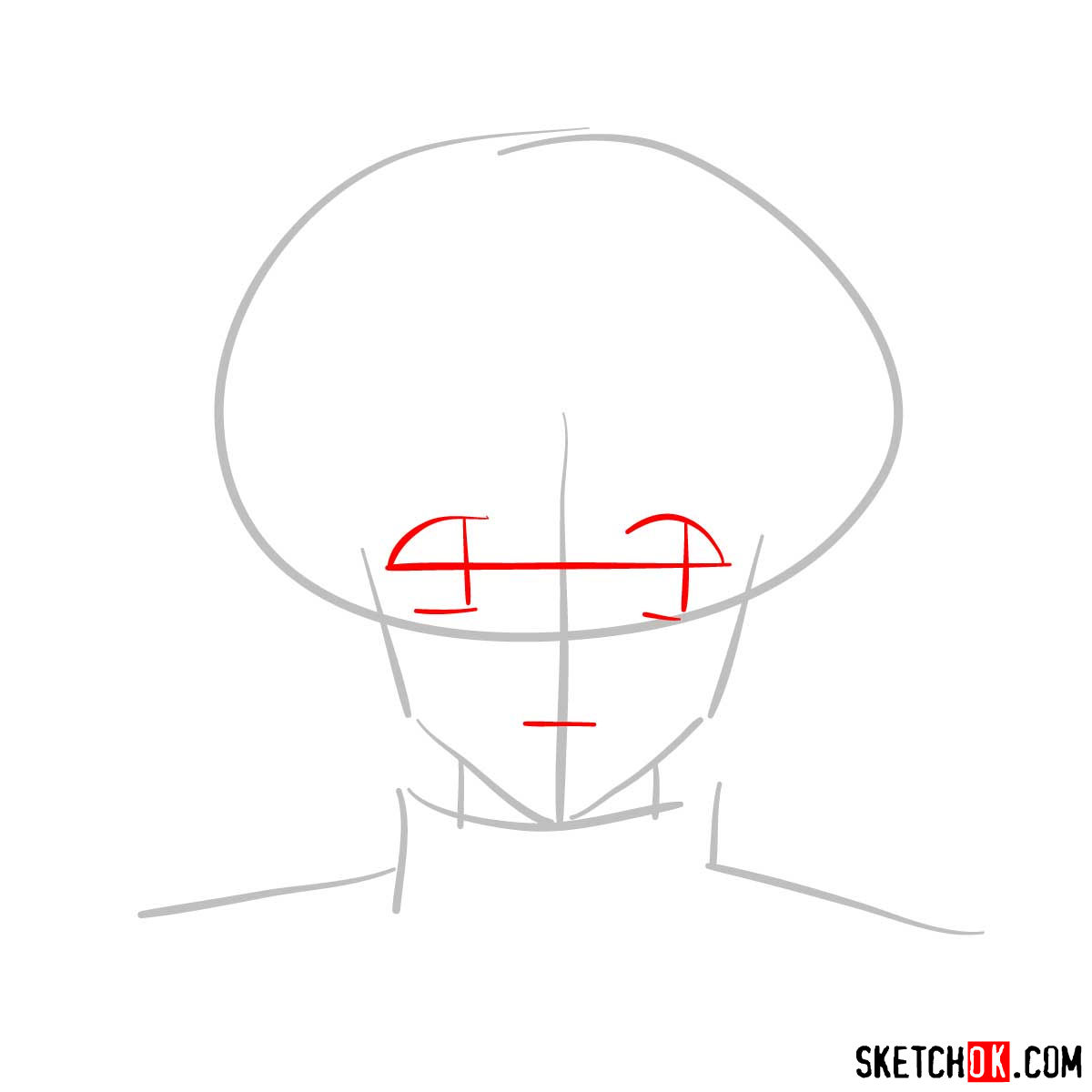 How to draw Meryl Stryfe's face | Trigun anime - step 02