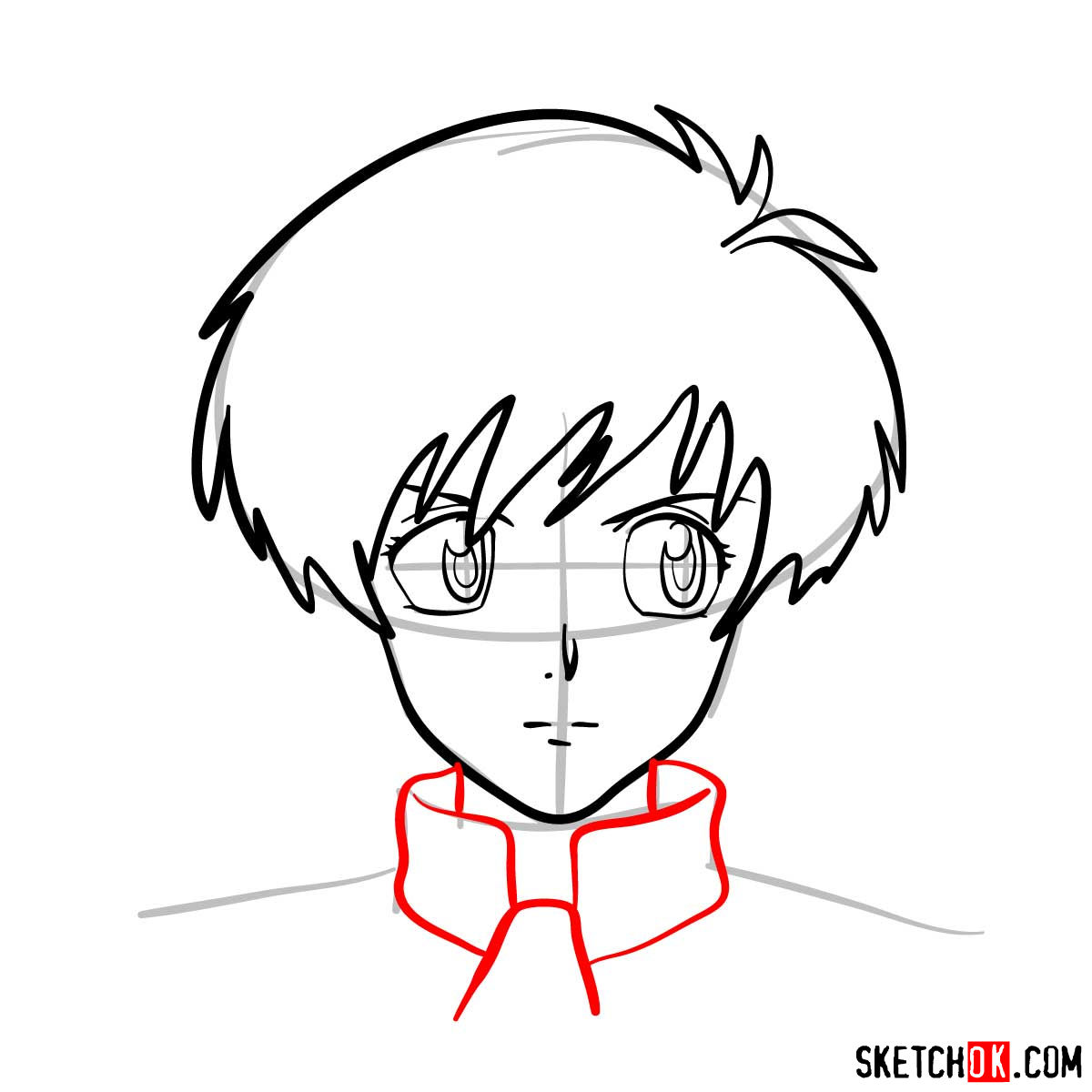 How to draw Meryl Stryfe's face | Trigun anime - step 06