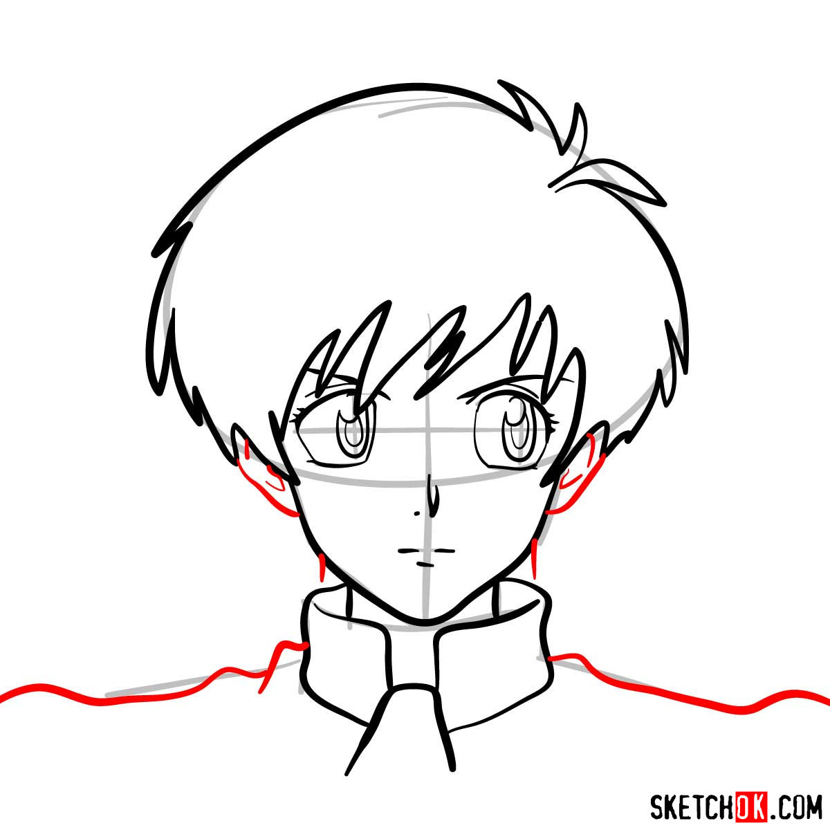 How to draw Meryl Stryfe's face | Trigun anime - step 07