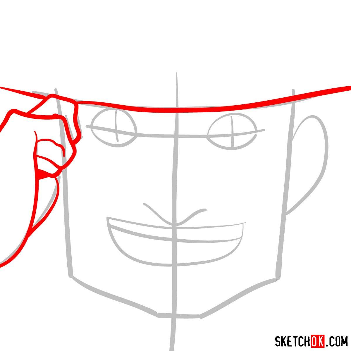 How to draw Mad Pierrot Tongpu | Cowboy Bebop anime - step 03