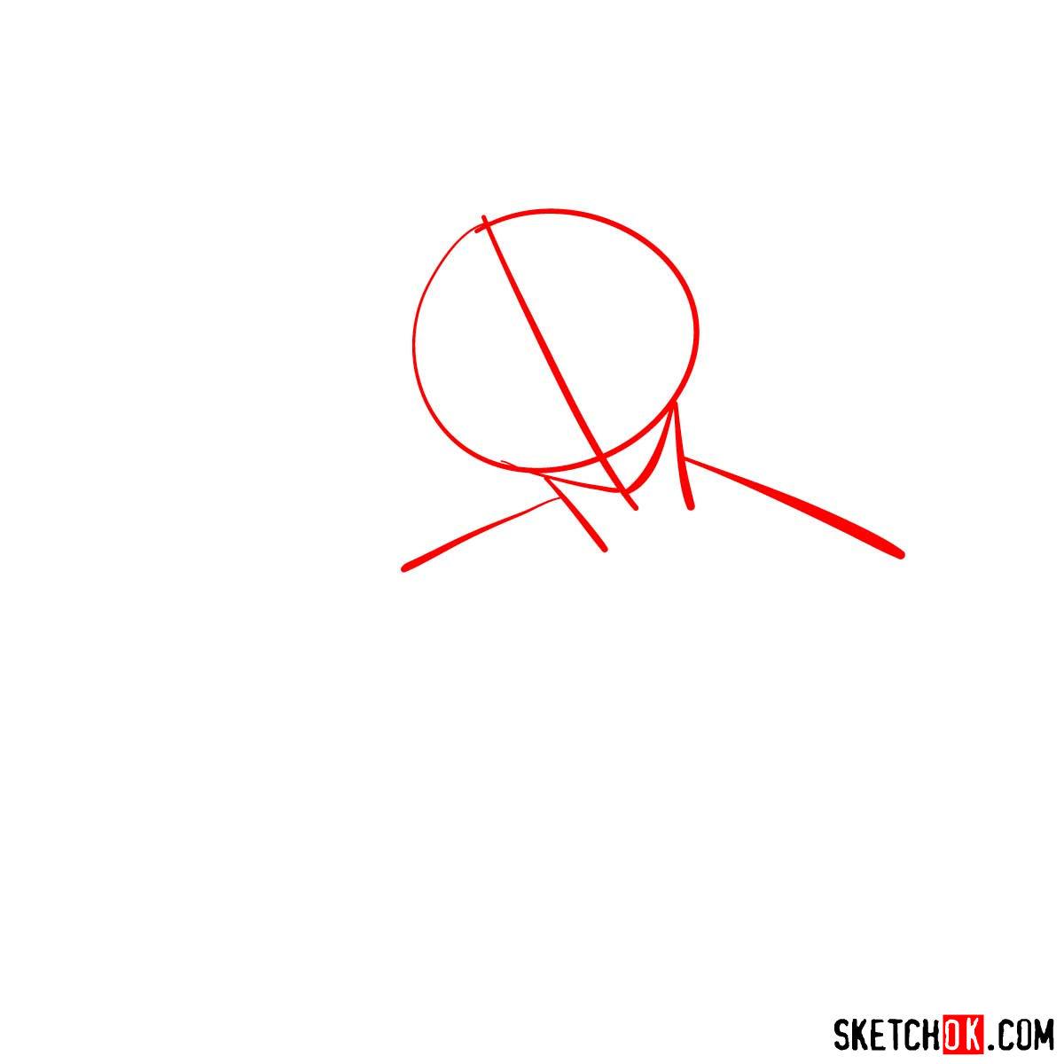 How to draw Rakshata Chawla | Code Geass anime - step 01