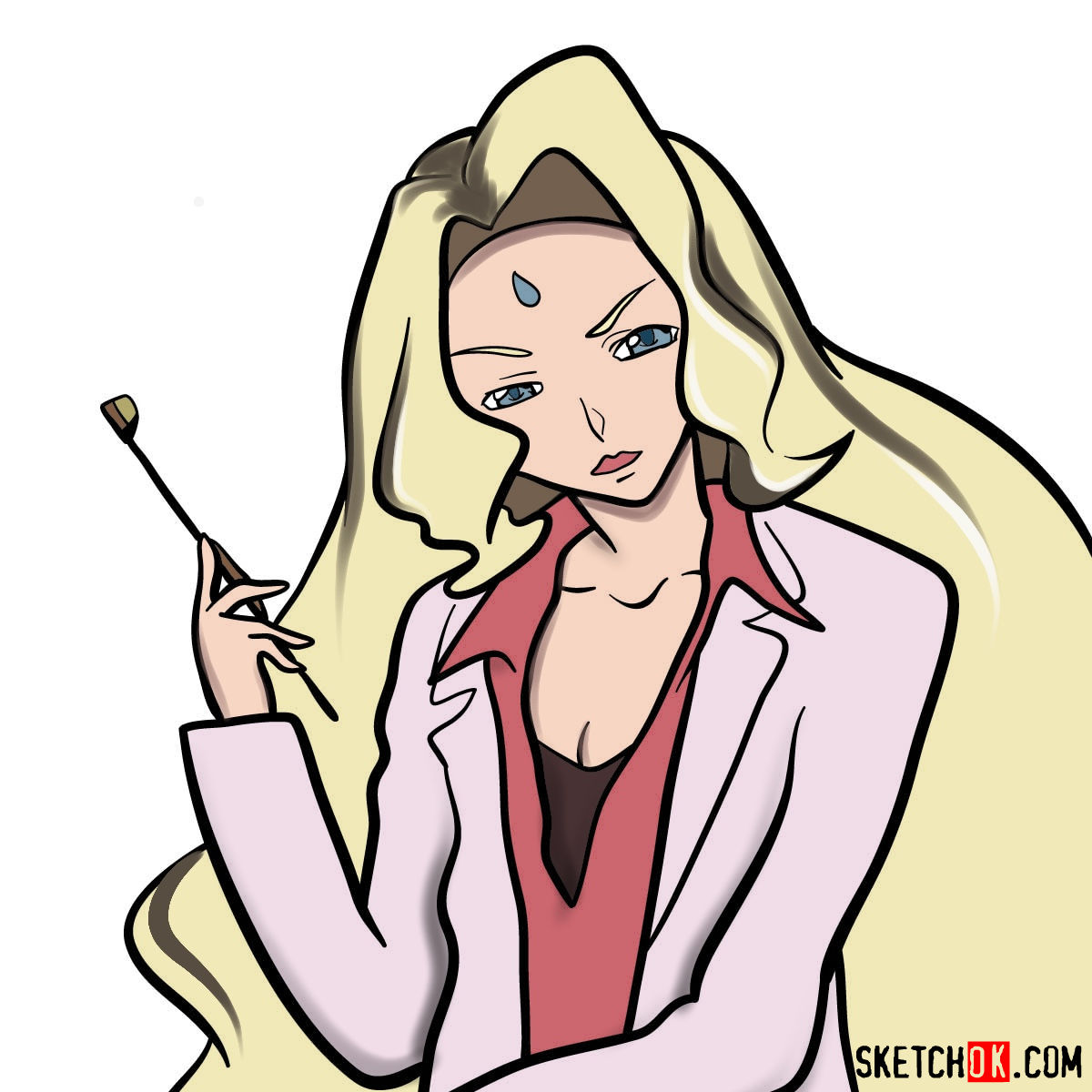 How to draw Rakshata Chawla   Code Geass anime