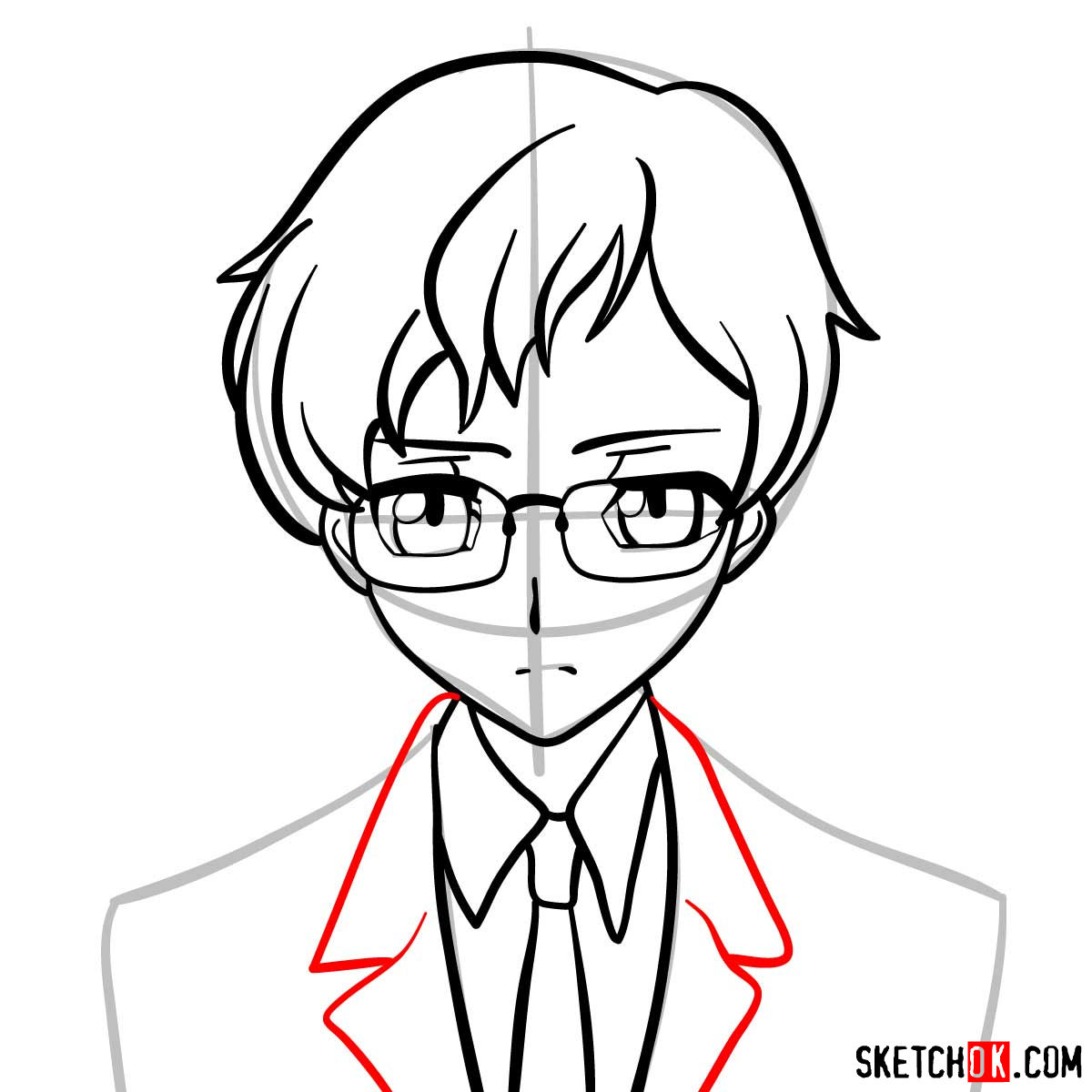 How to draw Rolo Lamperouge | Code Geass anime - step 08