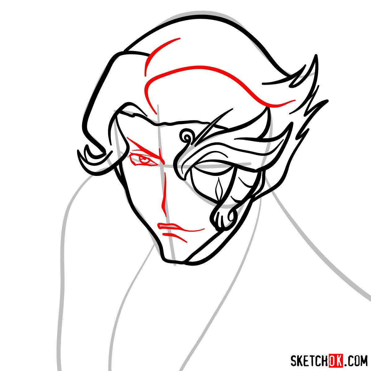 How to draw Jeremiah Gottwald | Code Geass anime - step 06