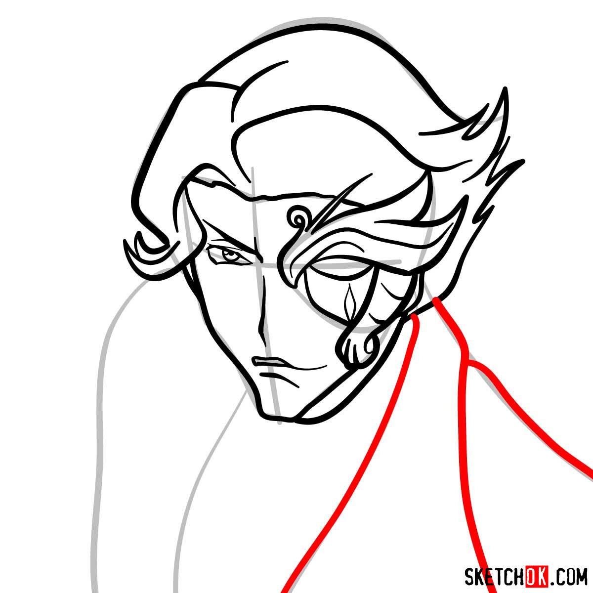 How to draw Jeremiah Gottwald | Code Geass anime - step 07