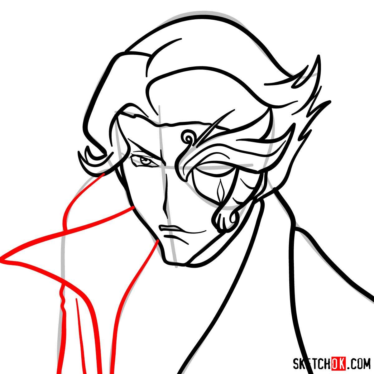How to draw Jeremiah Gottwald | Code Geass anime - step 08