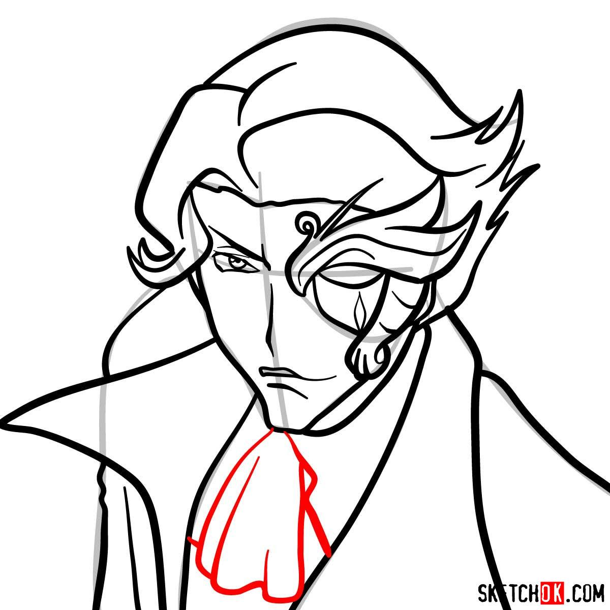 How to draw Jeremiah Gottwald | Code Geass anime - step 09