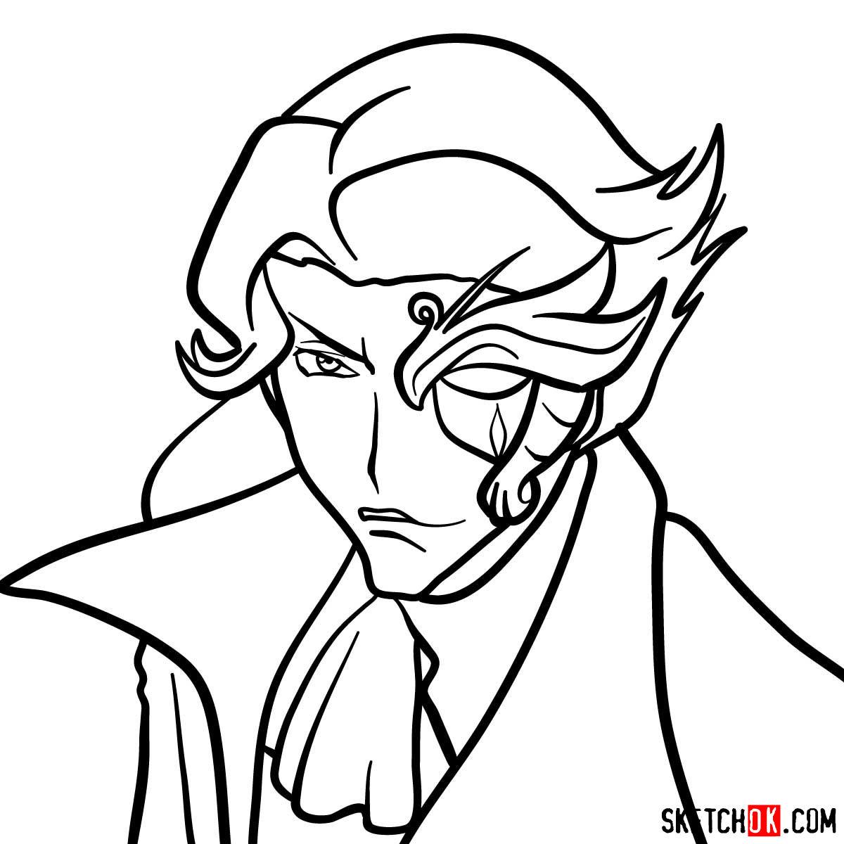 How to draw Jeremiah Gottwald | Code Geass anime - step 10