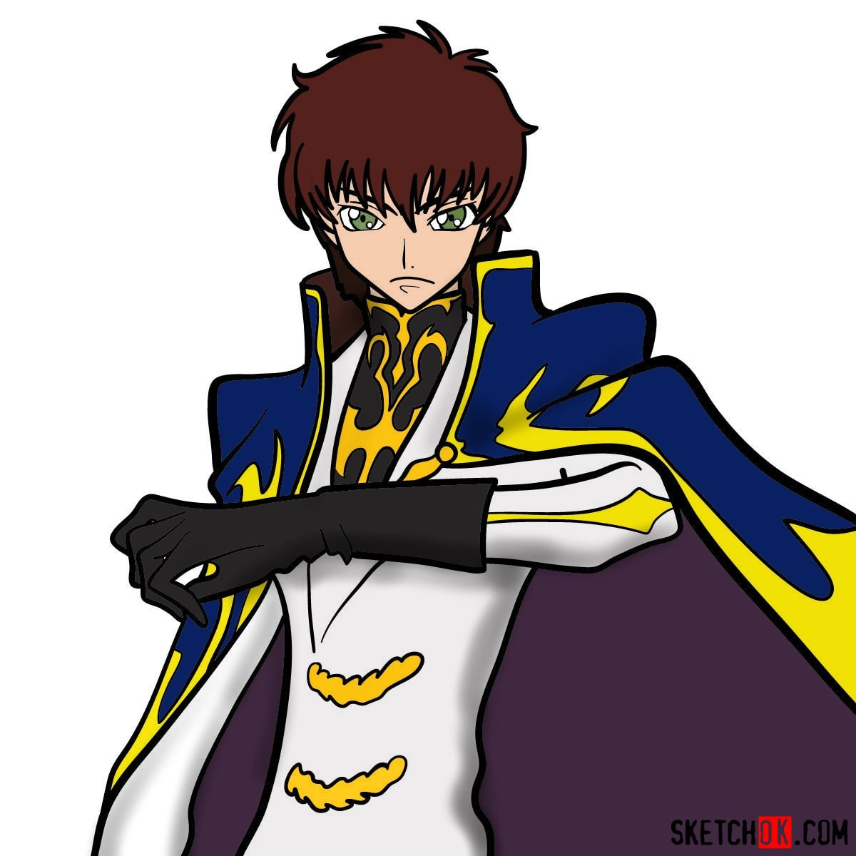 How to draw Suzaku Kururugi | Code Geass anime