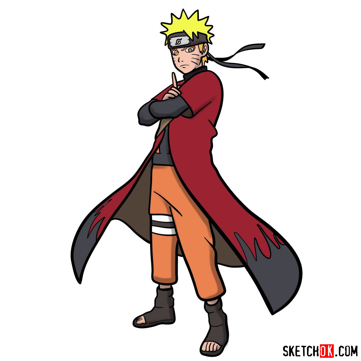 How to draw Naruto Uzumaki (Naruto anime)