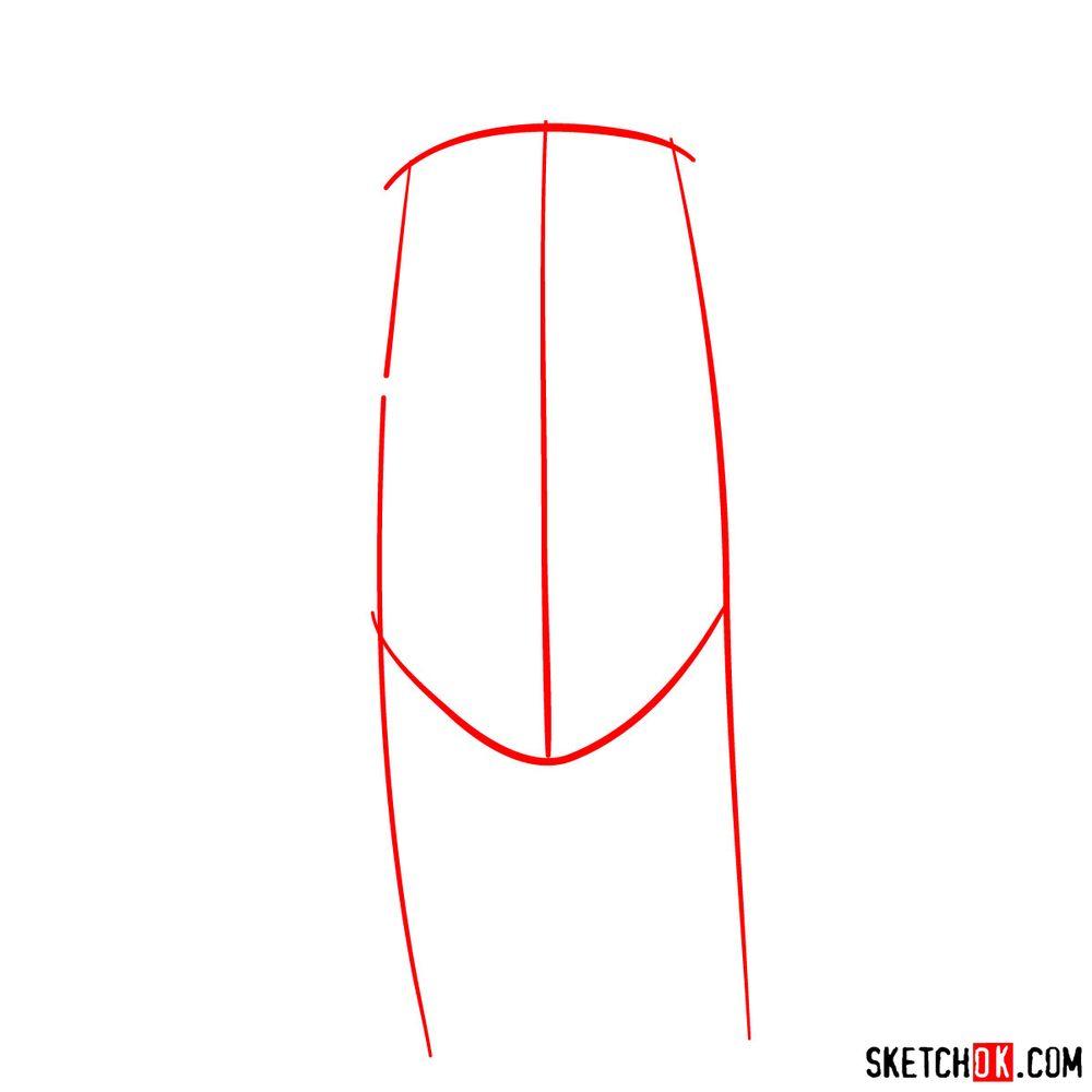 How to draw Haku Yuki - step 01