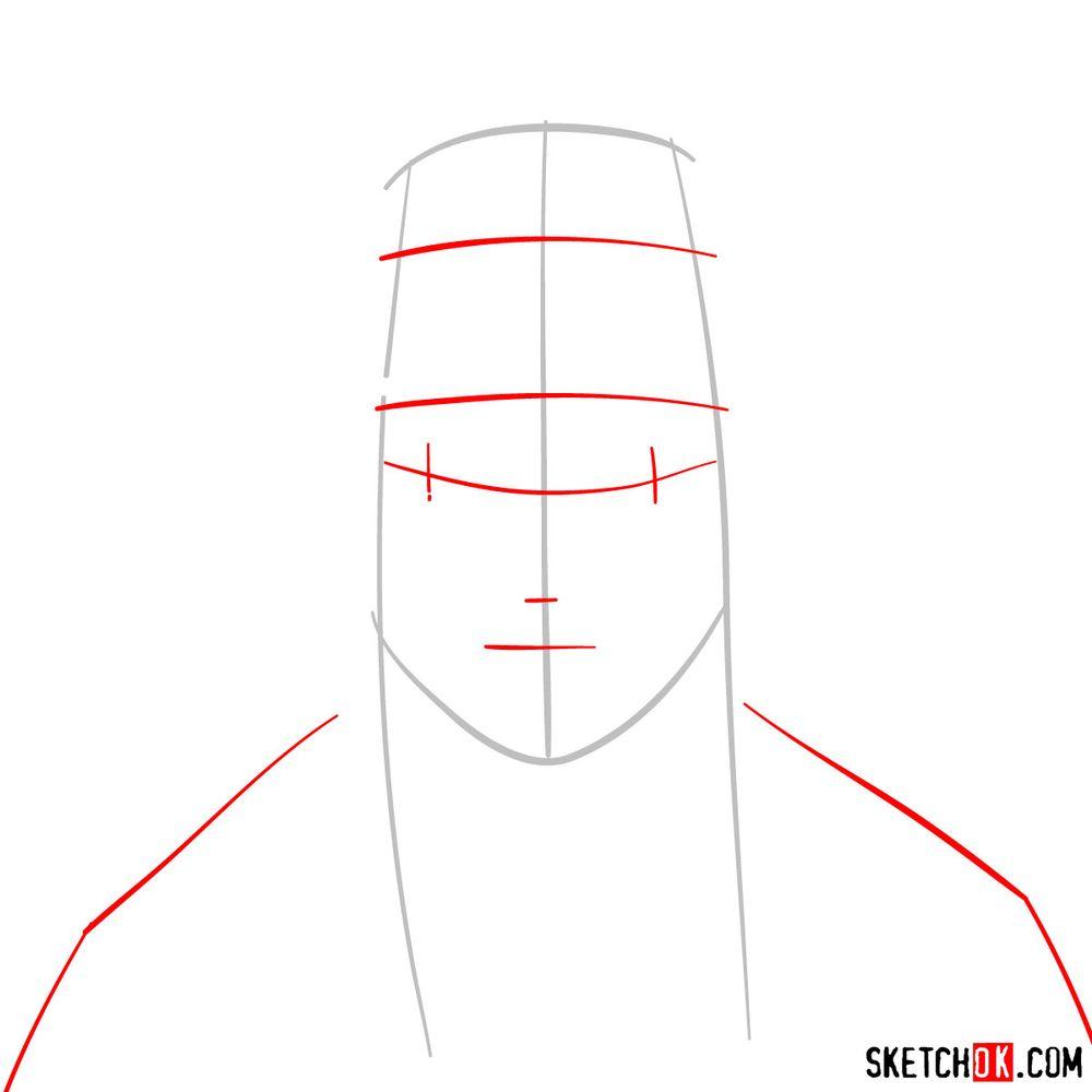 How to draw Haku Yuki - step 02
