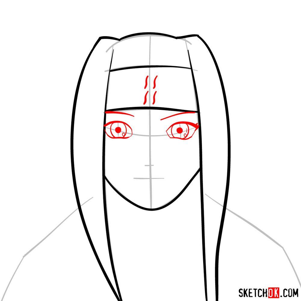 How to draw Haku Yuki - step 05