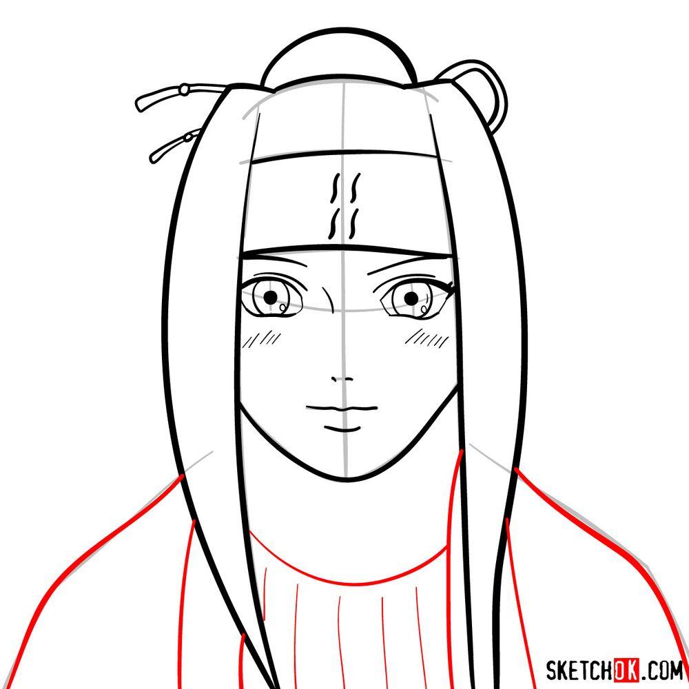 How to draw Haku Yuki - step 08