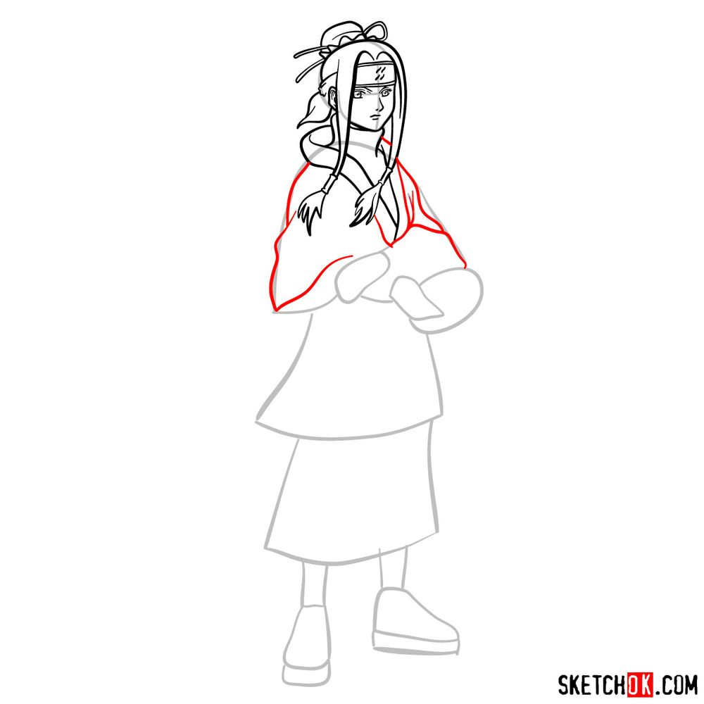 How to draw Haku from Naruto - step 09