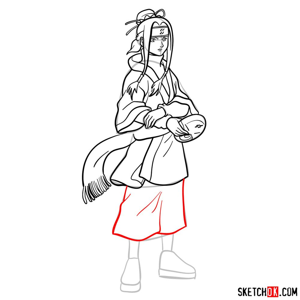 How to draw Haku from Naruto - step 15