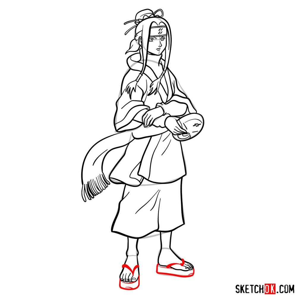 How to draw Haku from Naruto - step 17