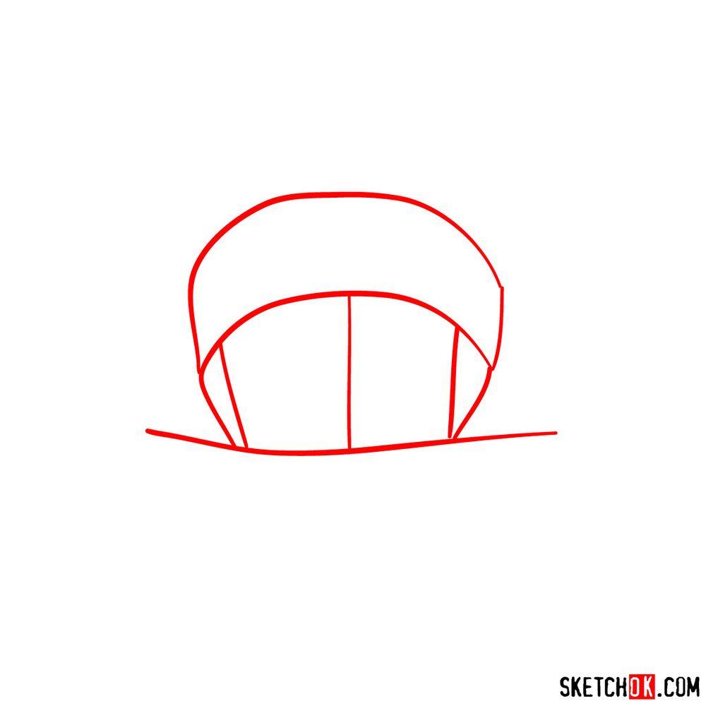 How to draw Shino Aburame's face - step 01