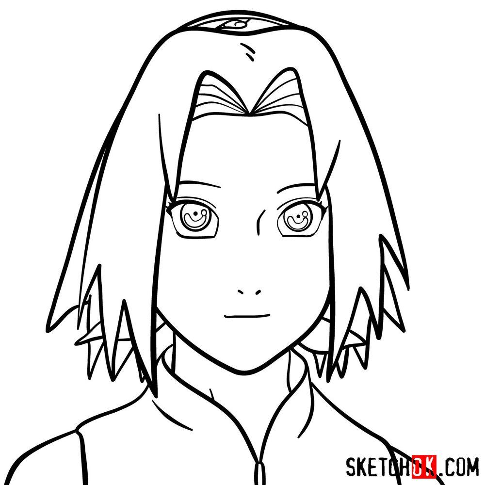 How to draw Sakura Haruno's face