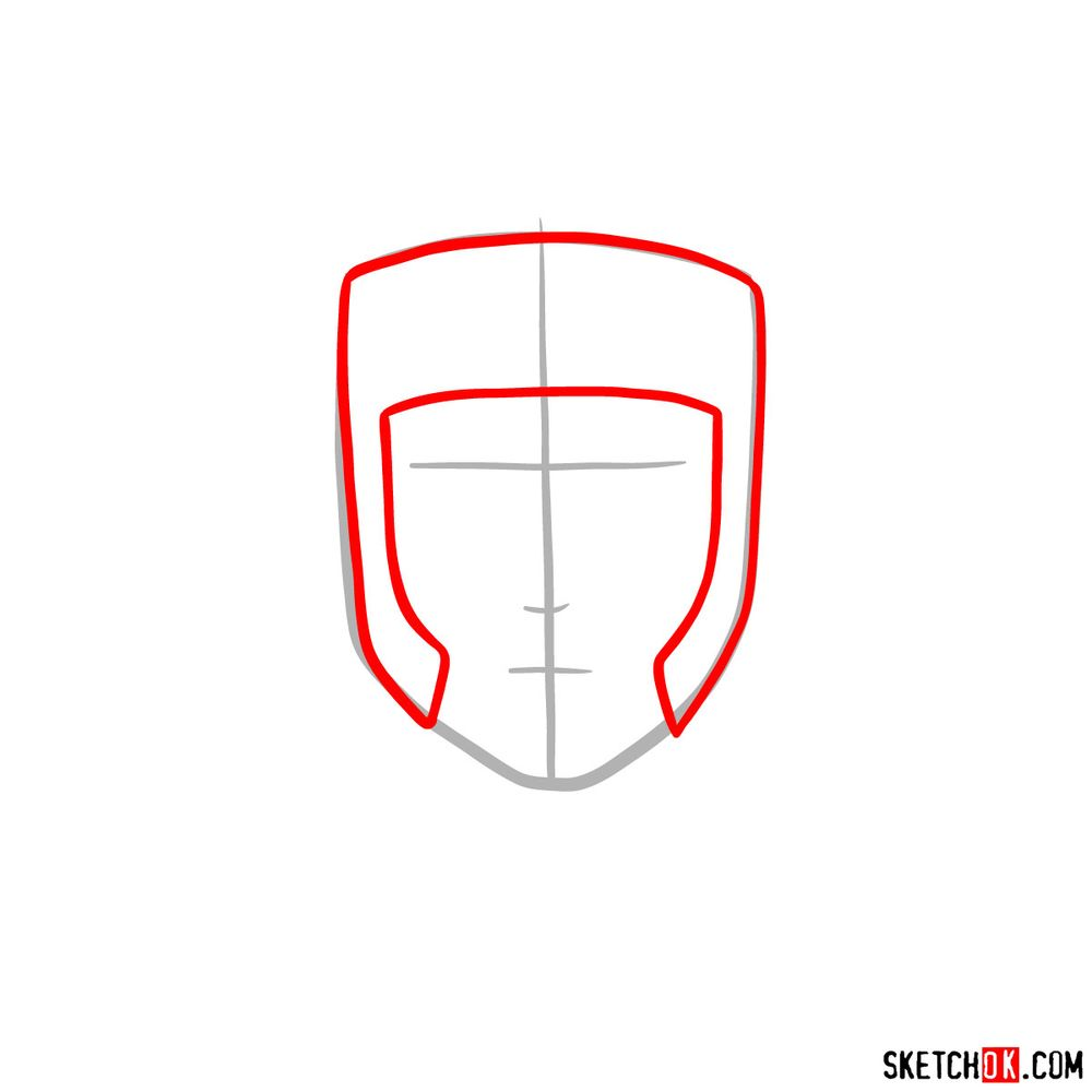 How to draw Yamato - step 02