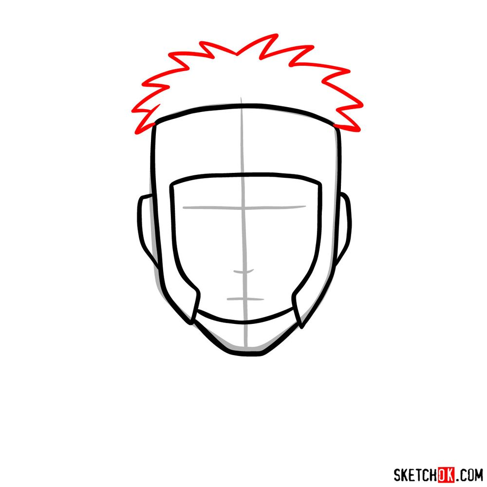 How to draw Yamato - step 04