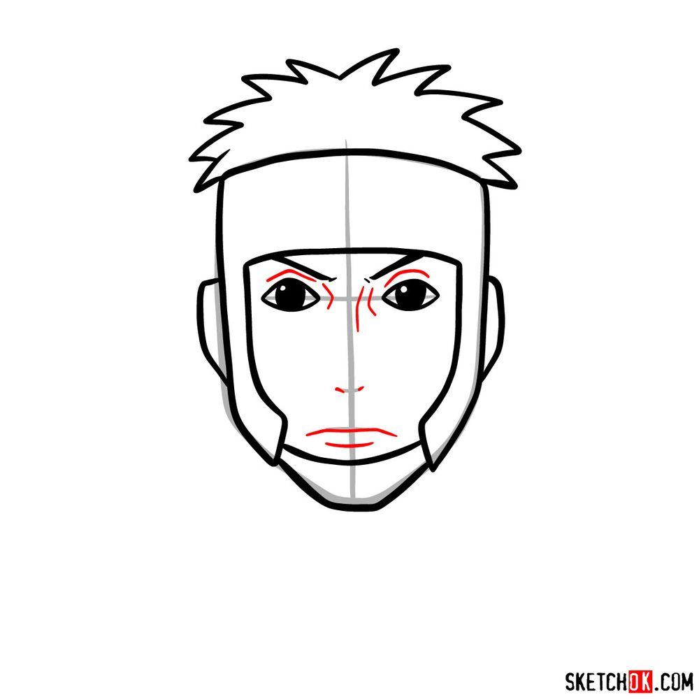 How to draw Yamato - step 06