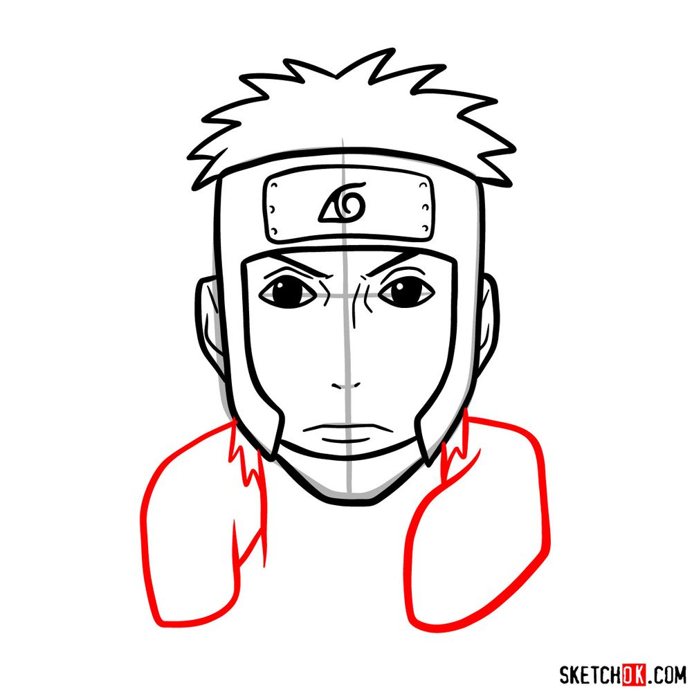 How to draw Yamato - step 08