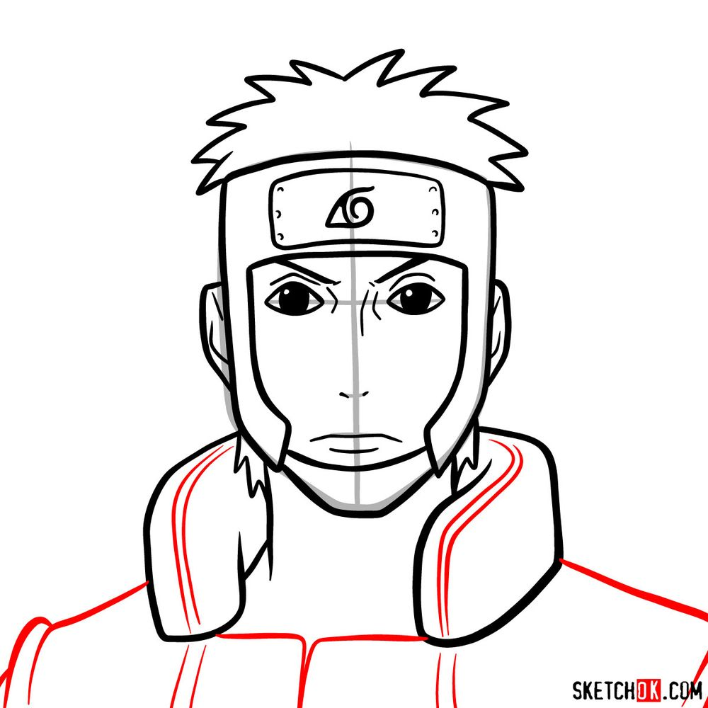 How to draw Yamato - step 09