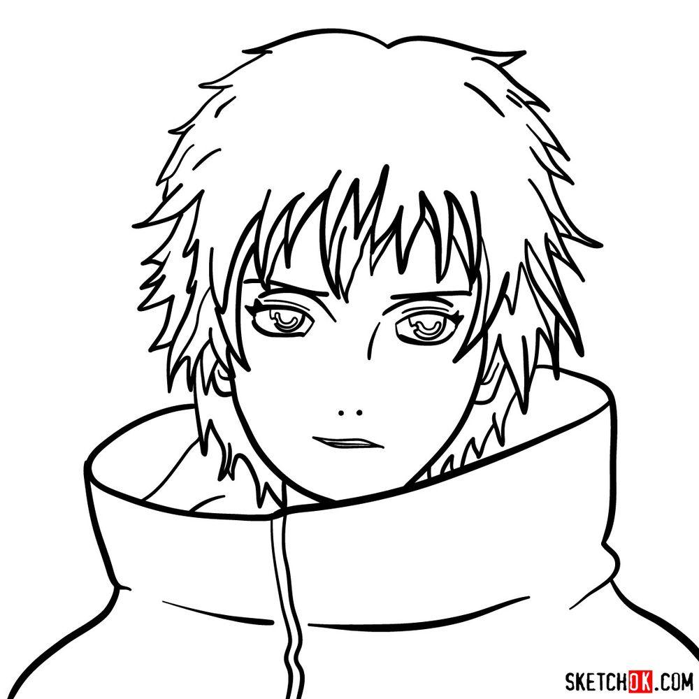 How to draw Sasori's face