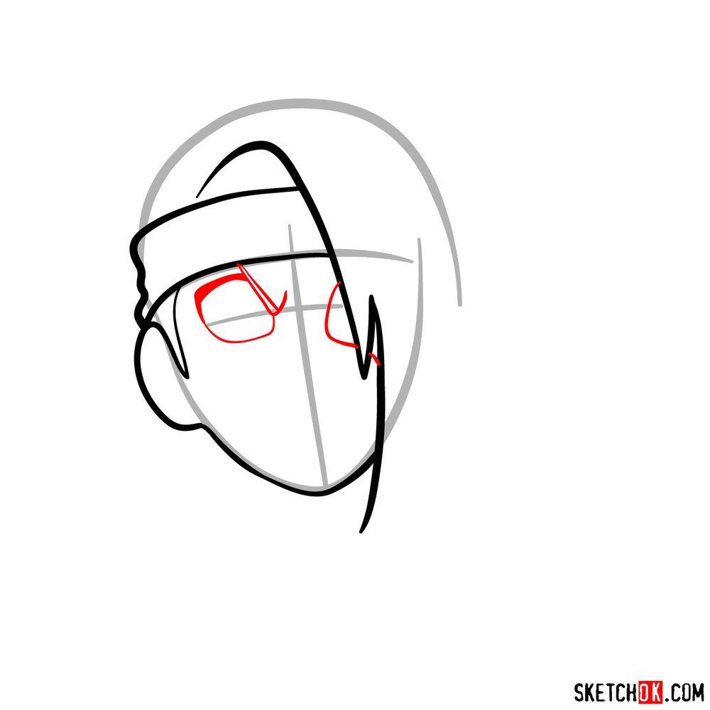 How to draw angry Deidara - step 05