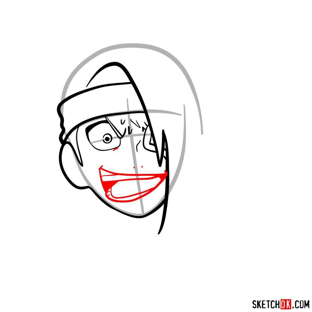 How to draw angry Deidara - step 07