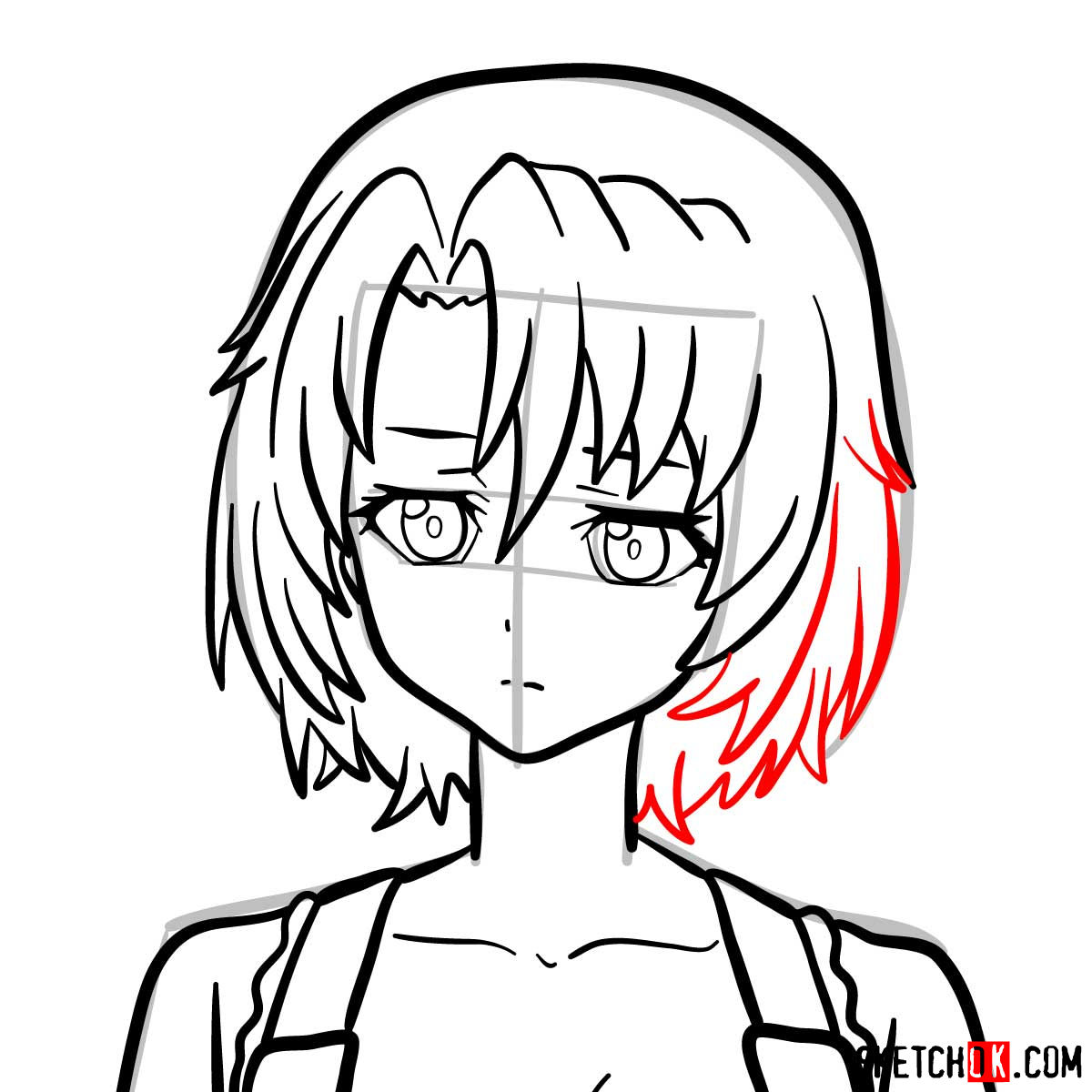 How to draw Cow Girl from Goblin Slayer anime - step 11