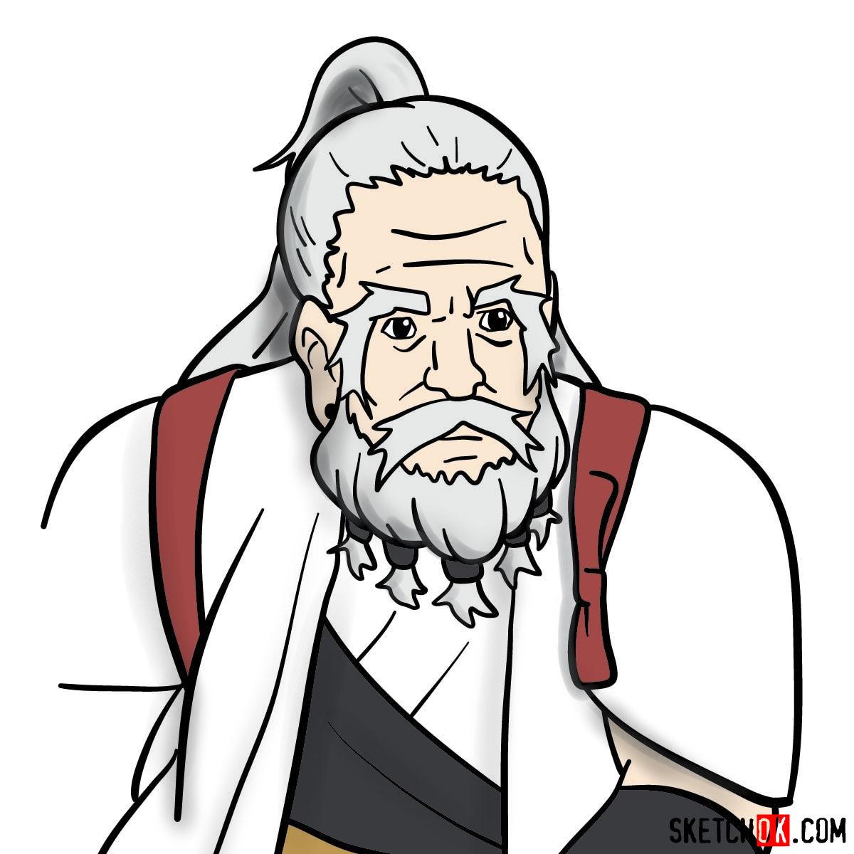 How to draw the long bearded dwarf (Dwarf Shaman) from Goblin Slayer anime