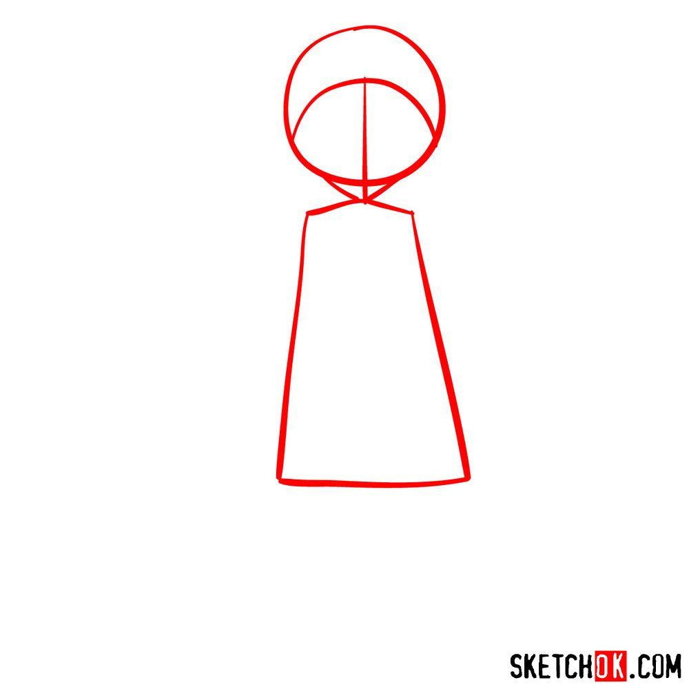 How to draw Reisuke Houjou | Future Diary - step 01