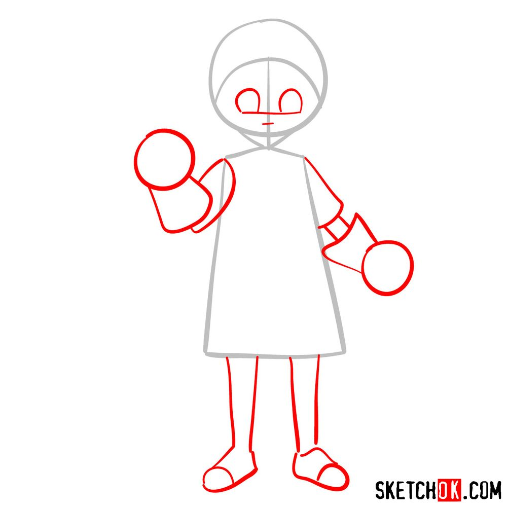 How to draw Reisuke Houjou | Future Diary - step 02