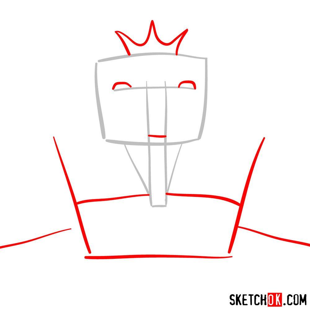 How to draw Deus Ex Machina | Future Diary - step 02